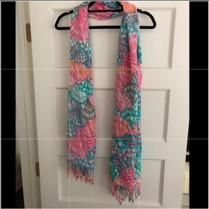 Lilly Pulitzer seashell scarf